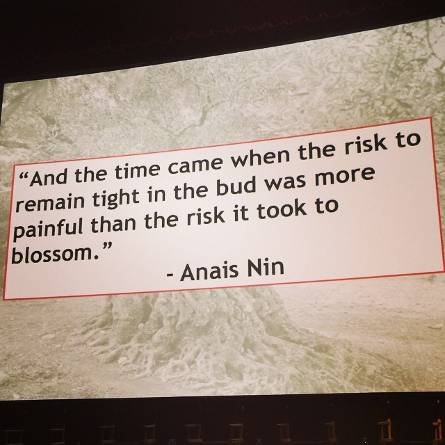 Mary Taylor, founder,  Salt & Olive quotes Anais Nin in reference to the leap of faith necessary to start one's own venture.