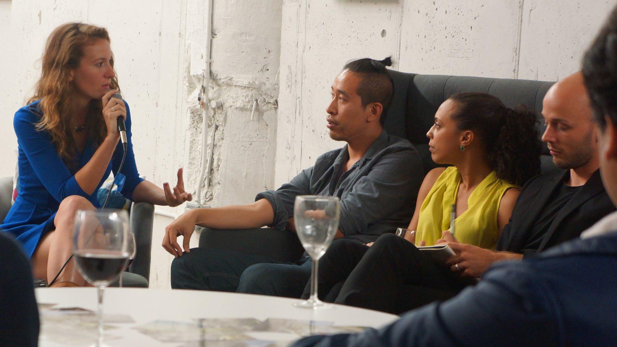 Wisdom Hackers' Alexa Clay, Lee-Sean Huang, Garance Choko, and Mathias Jakobsen, Brooklyn, 2014