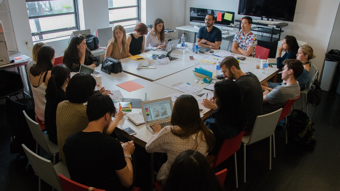 Lee-Sean and David teaching Strategic Design and Management intensive course, Summer 2016