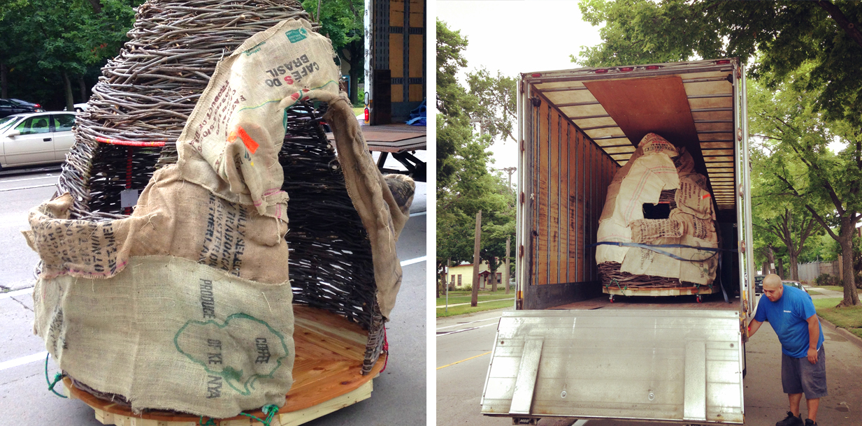 Finally, you'll get to see your sweet Thicket loaded safely on the truck as it heads home to you.