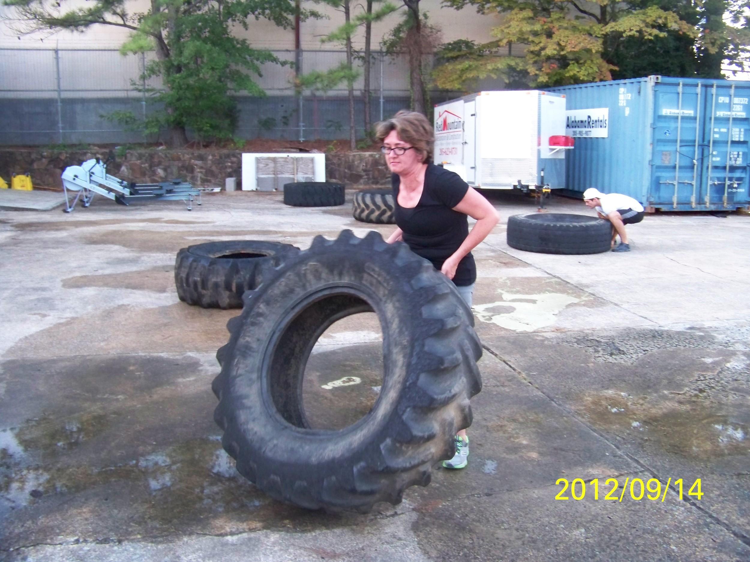 Lisa Borden Flipping Tires