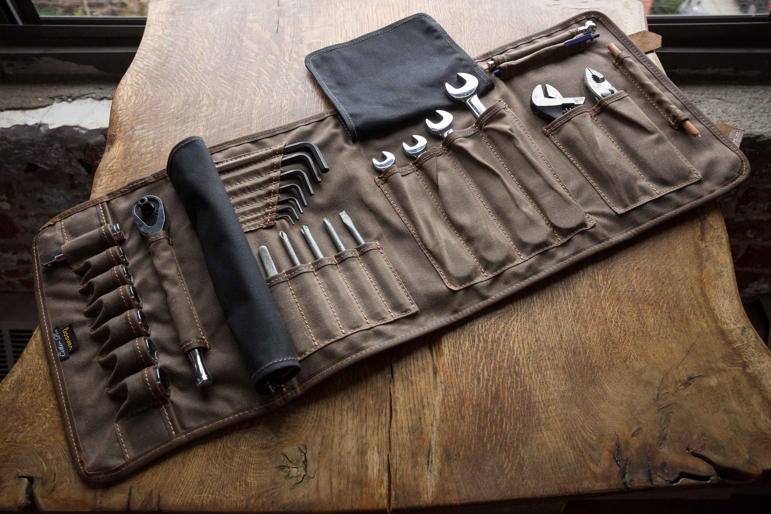 Waxed Motorcycle Tool Roll