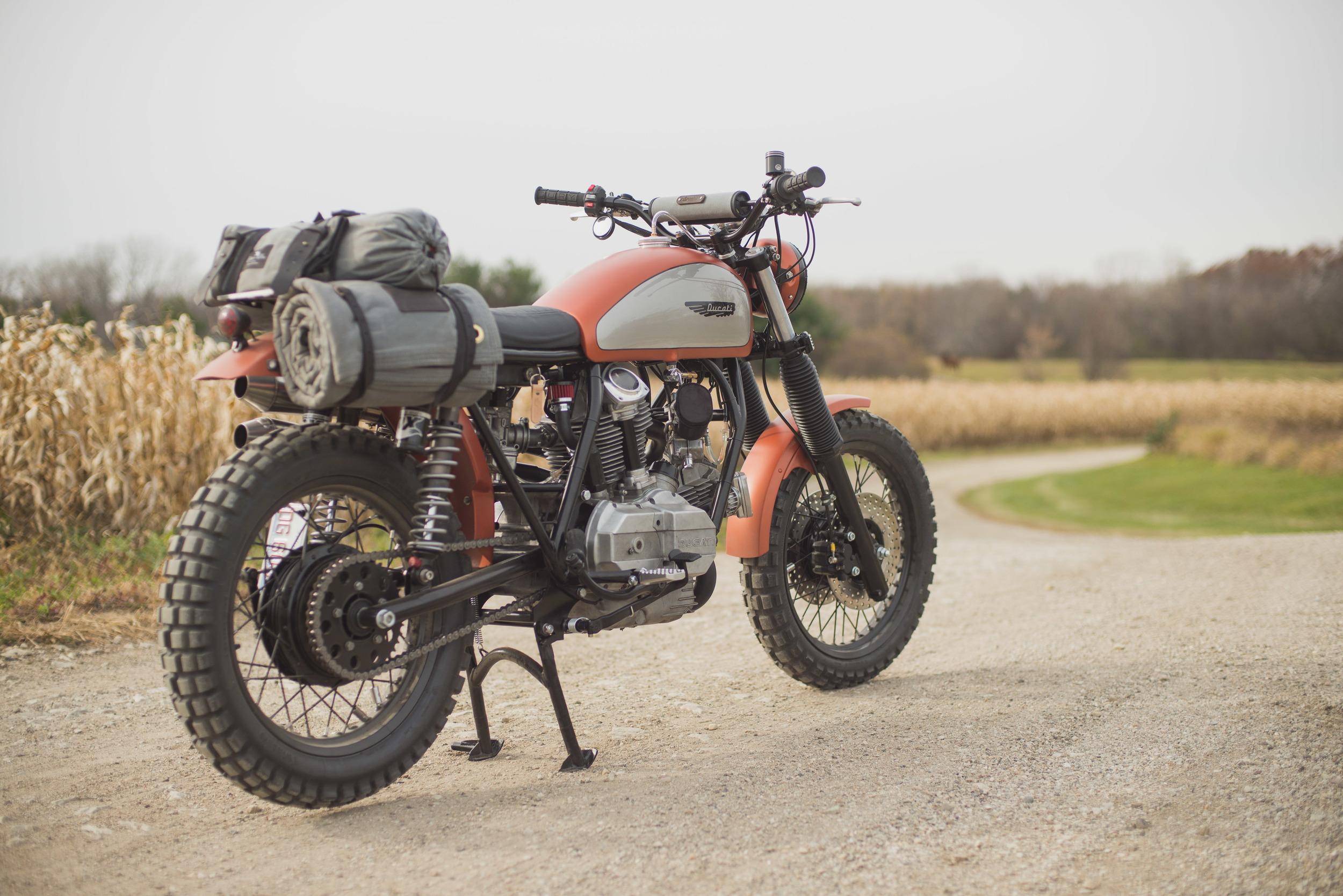 Custom Cotter Pin Gear For Analog Motorcycles Ducati Scrambler
