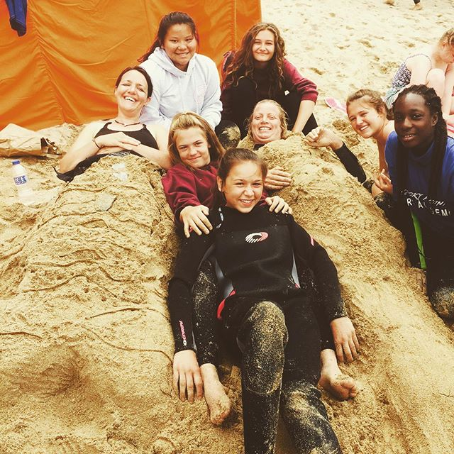 Great to see this group of girls back on the beach again #girlsschool (a throw back from their 2017 adventure)