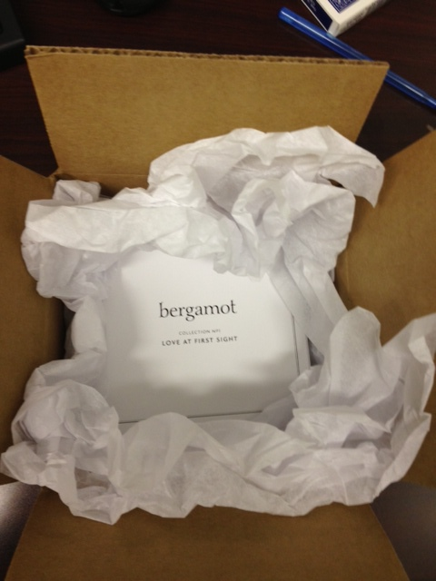 You can also use tissue paper to create the sensation of opening a gift, as done brilliantly by Bergamot.