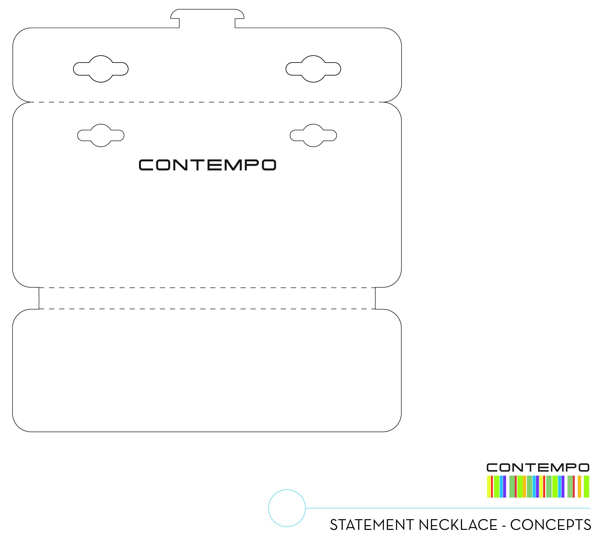 Option 1: Self Locking Foldover Card for Statement Neckalce
