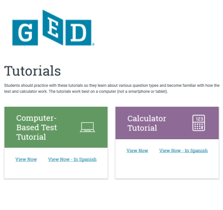 GED Computer and Calculator Tutorial