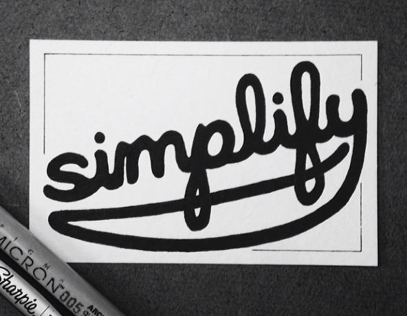 Simplify -  Hand drawn type by Matt Shirley