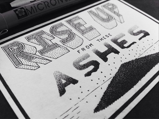A typographic pieceinspired byreal-life events.  (see more here)