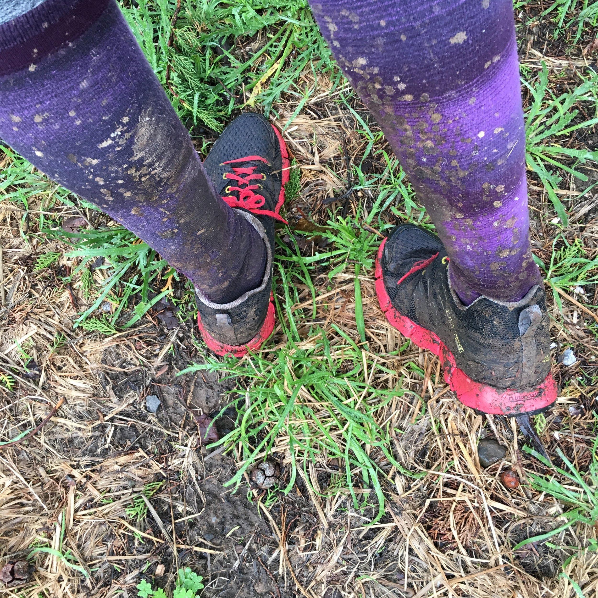 Muddy Aftermath of Steep Ravine 10K