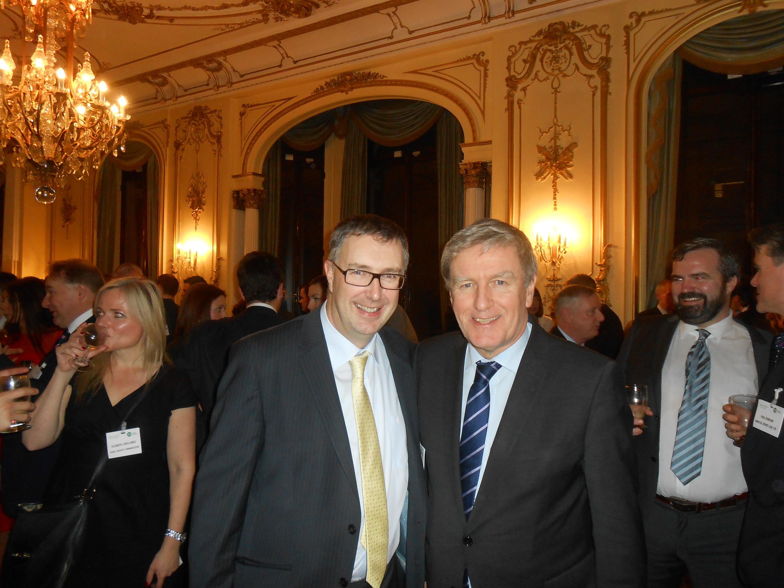 William Deevy, CEO Natures Oils & Sauces withDaniel Mulhall,Ireland's Ambassador to Britain.