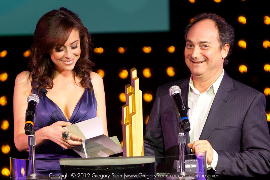 IAWTV Awards-Shira Lazar and Kevin Pollack.jpg