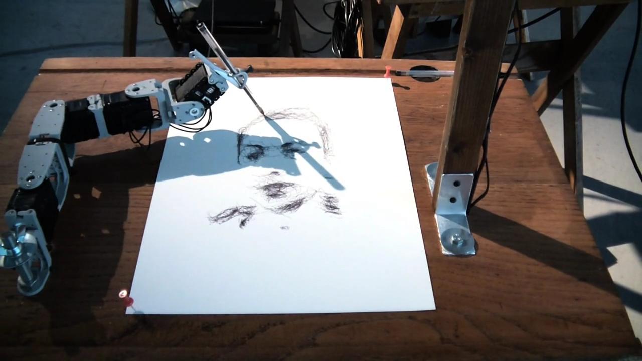 5 Robots Named Paul  by Patrick Tresset, Steph Horak, Nino Tchitava