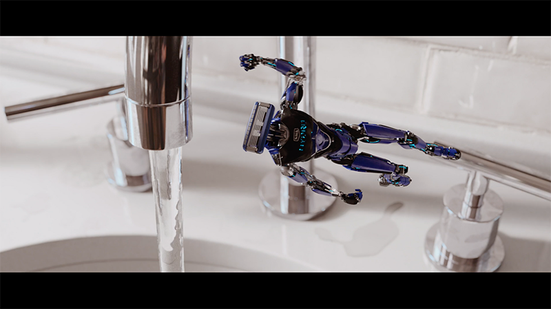 Schick 'Hydro Robot' by Mill+, JWT