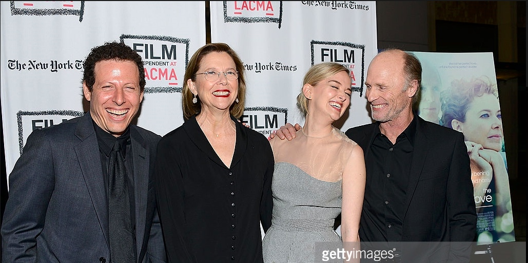 with some of the cast at the LA premiere at LACMA (Annette Bening, Ed Harris, Jess Weixler)