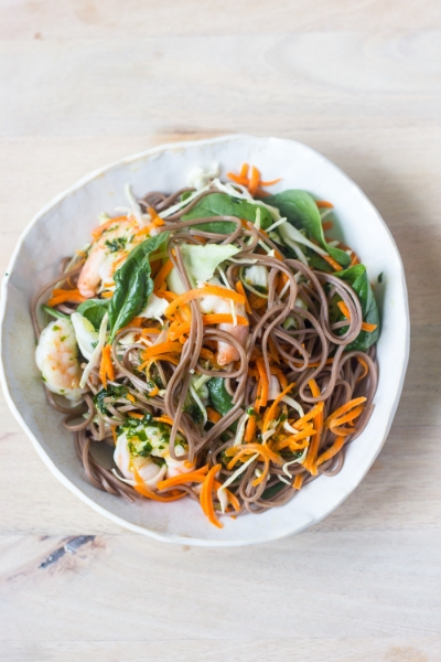 SOBA NOODLE AND SHRIMP SALAD