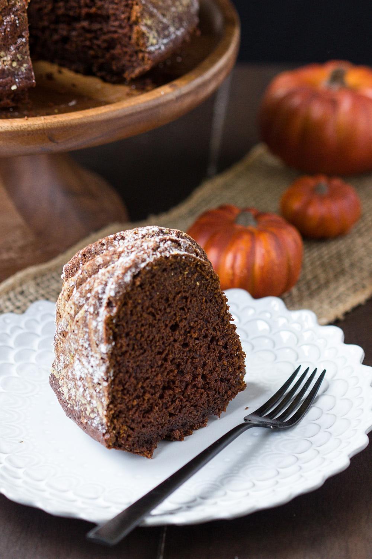 CHOCOLATE PUMPKIN BUNDT CAKE