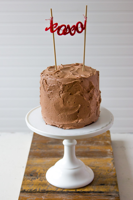 SOUR CREAM CHOCOLATE LAYER CAKE