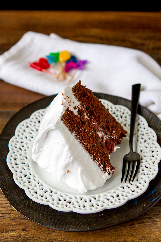 CHOCOLATE MARSHMALLOW BIRTHDAY CAKE