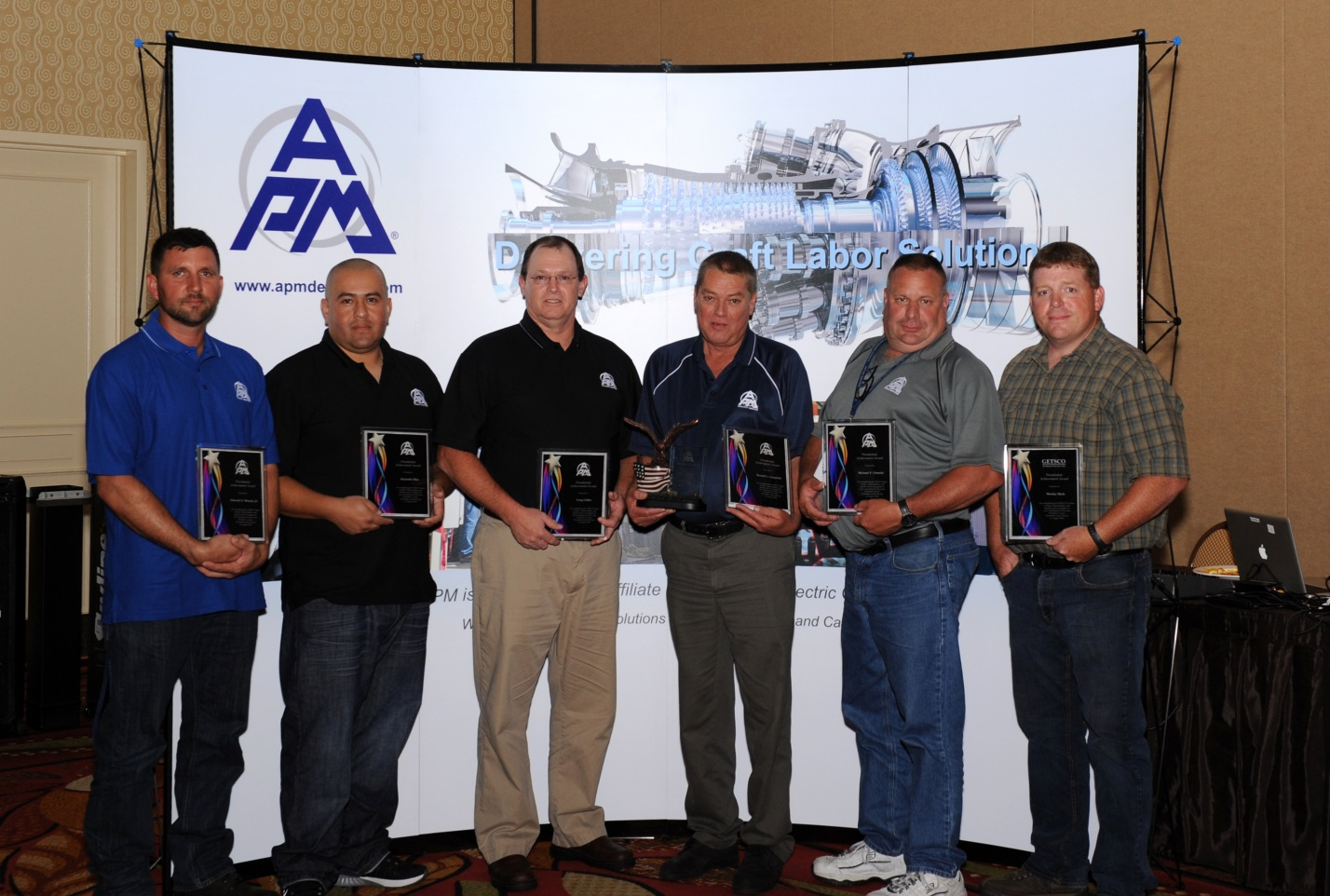We are proud of all of the nominees for this year's APM Presidential Award and extend special congratulations to the winner, Ronald Campbell. Pictured from left to right: Edward Menees, Alejandro Blas, Greg Gibbs, Ronald Campbell, Michael Ornoski and Wesley Heck.