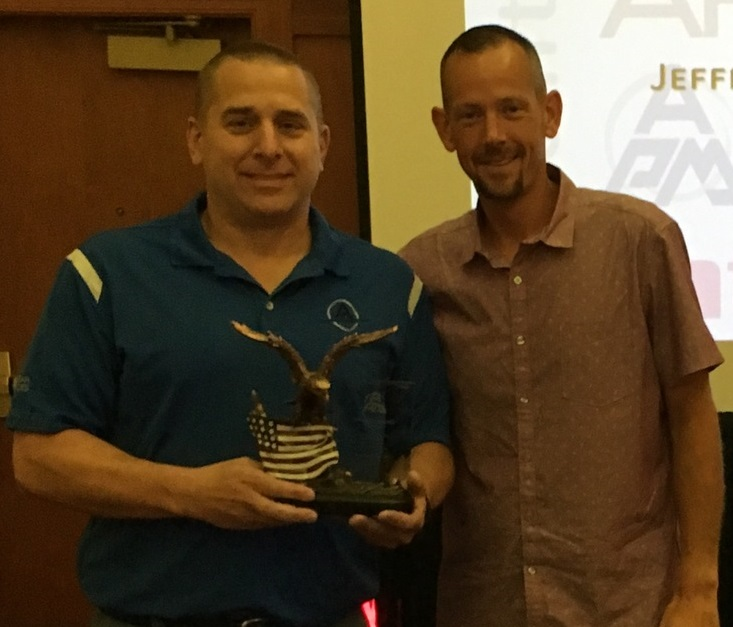 Jeff Campanale - APM NuclearPresident's AwardJeff (left) pictured with Eric Sielaff, Fossil North Director
