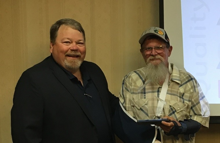 Donald Illgen - APM Fossil SouthMost ImprovedDonald (right) pictured with Andy Mills, Fossil South Director