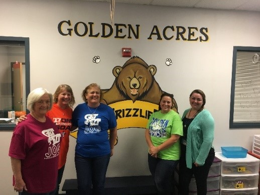Golden Acres Elementary school Principal and Assistant Principal and other various school office workers.