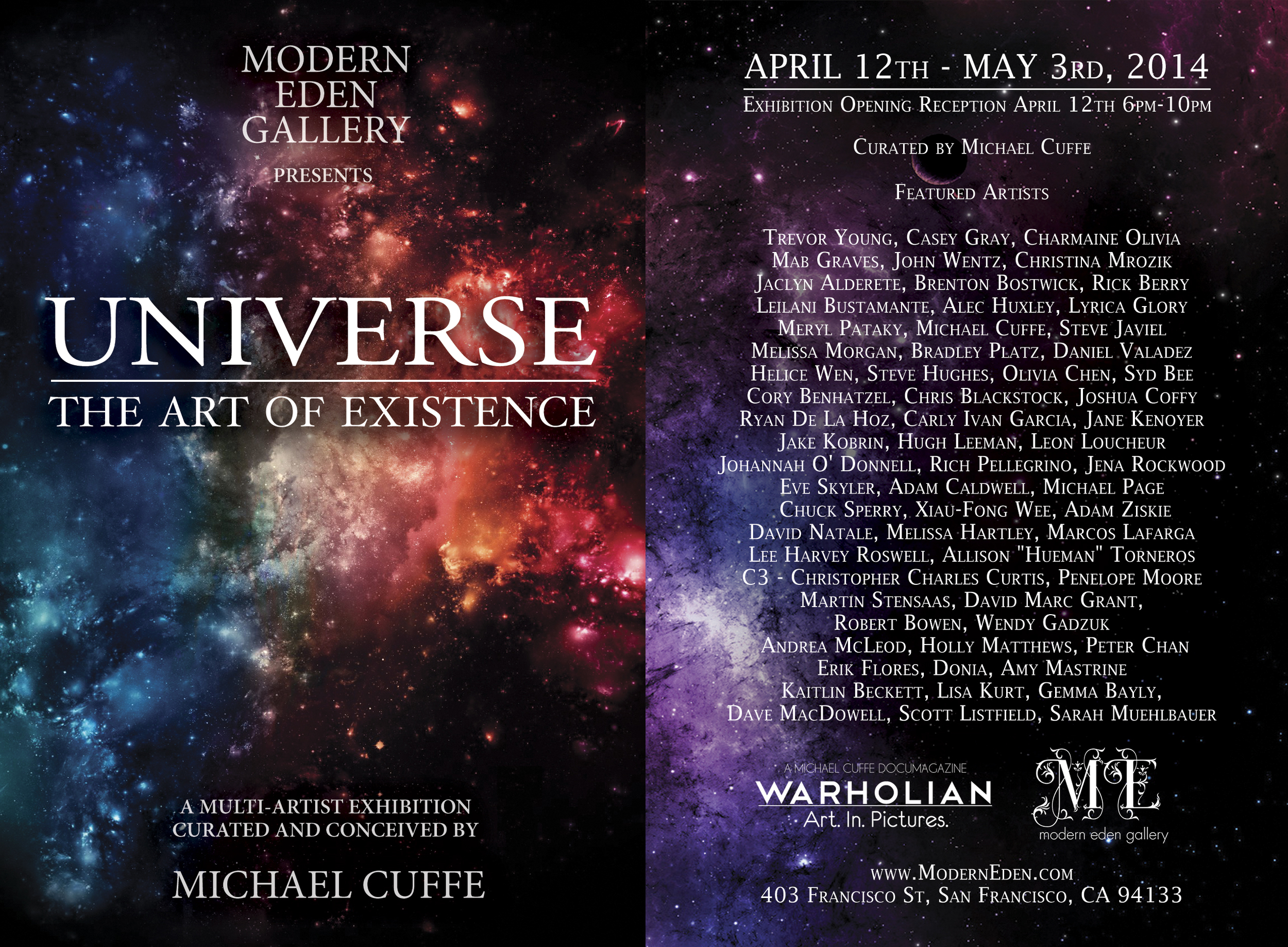 so pumped to be a part of this upcoming show curated by Michael Cuffe of WARHOLIAN.