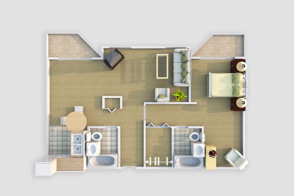 Harmony Court Estate 1 Bedroom Deluxe Suite - The Rosewood.jpg