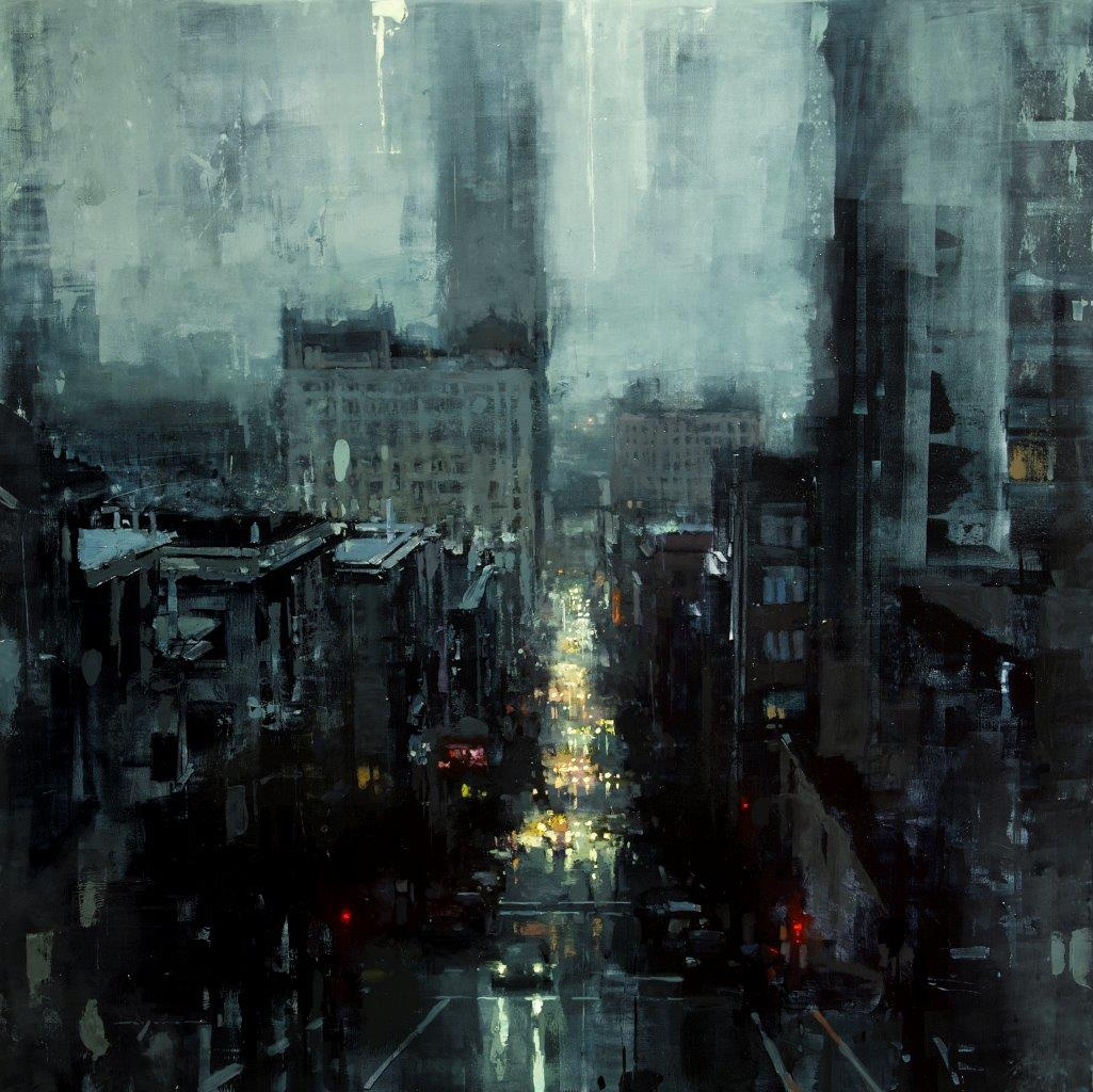 The City Tempest - 36 x 36 inches - Oil on Panel - 5/2013