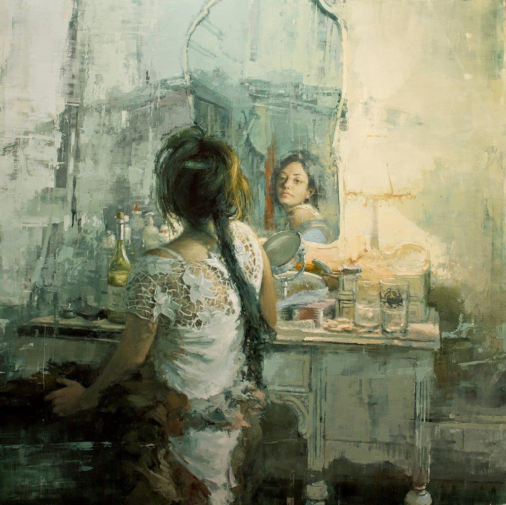 The White Vanity - 48 x 48 inches - Oil on Panel - 9/2011