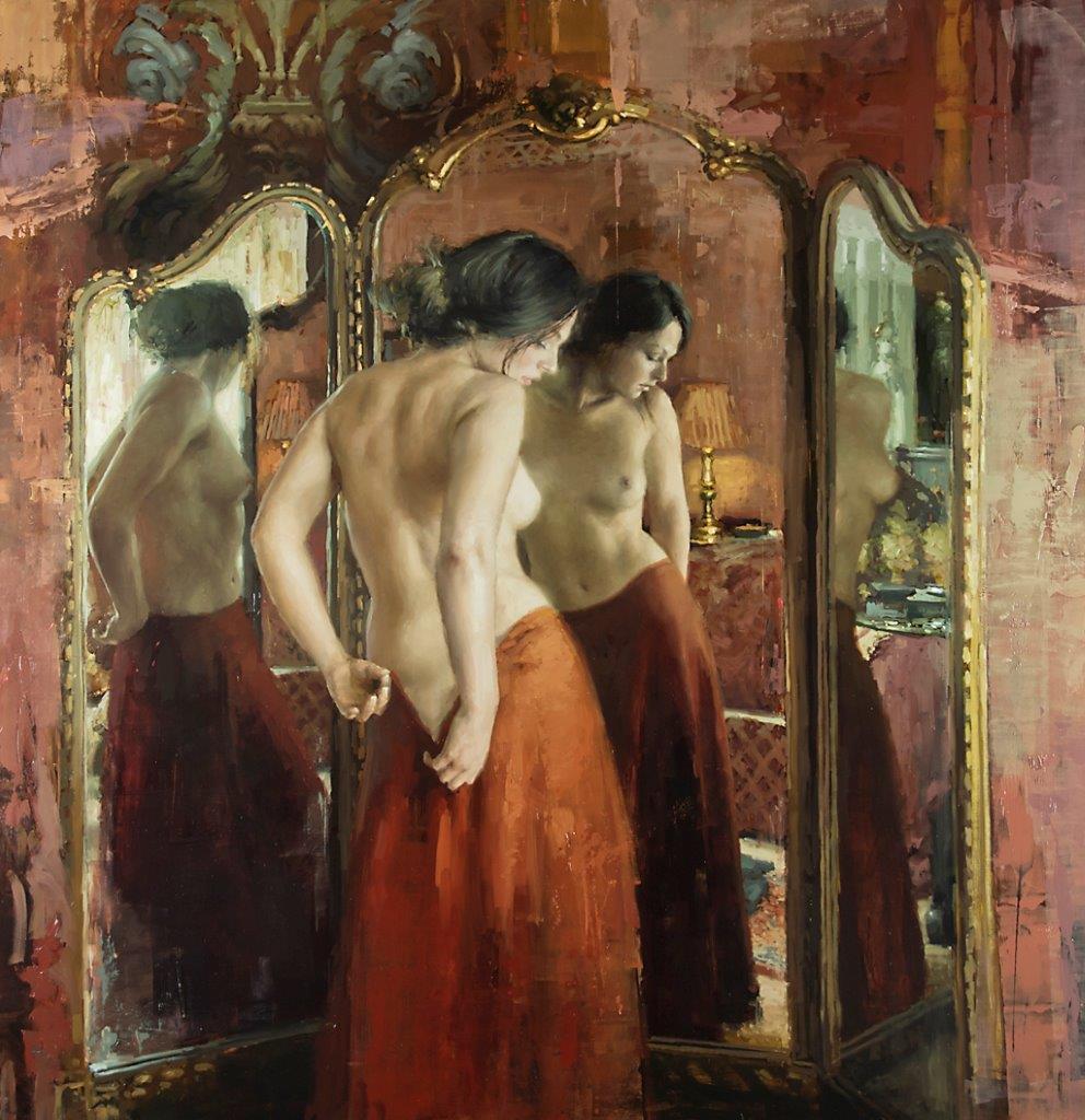 Una Bella Adagio - 53 x 50 inches - Oil on Panel - 6/2012