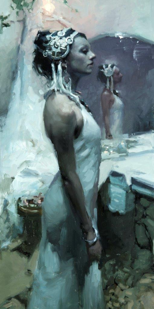 Stature (Forms of Beauty in Low Light 4) - 24 x 12 inches - Oil on Panel - 11/2013