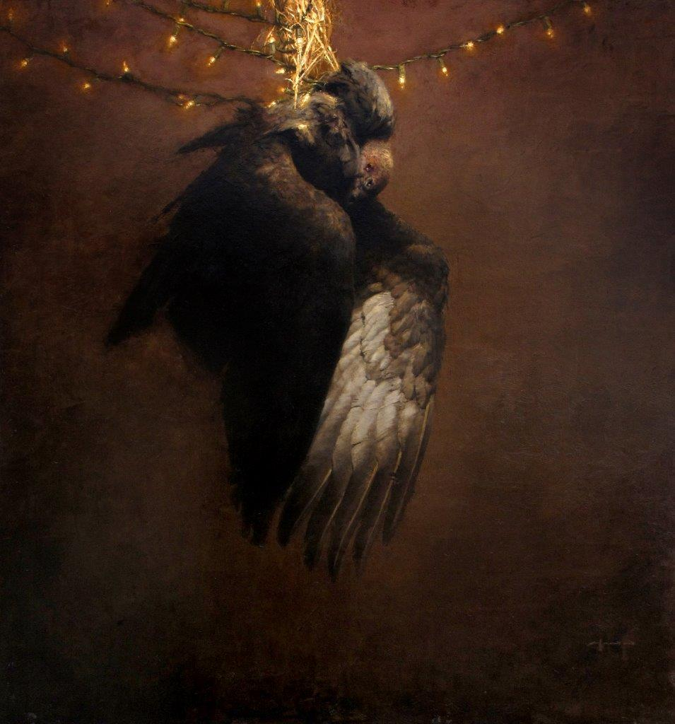The Pendent Vulture - 48 x 45 inches - Oil on Panel - 4/2009