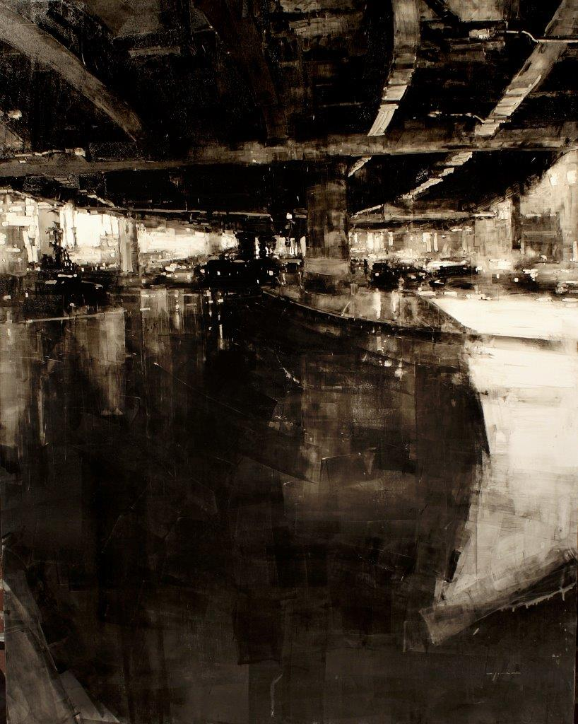 Composition #104 - 59 x 47 inches - Oil on Panel - 1/2011