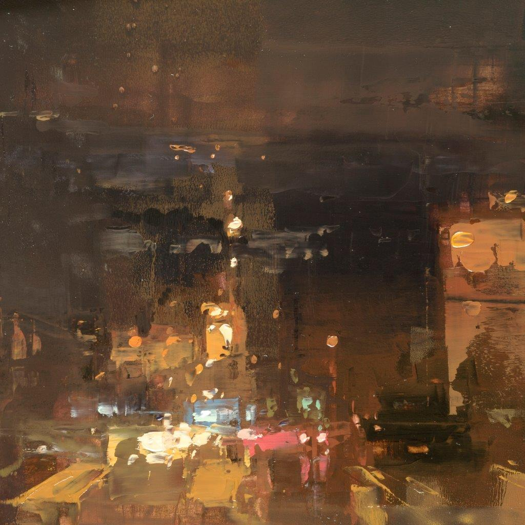 Cityscape - Composed Form Study 14 - 6 x 6 inches - Oil on Panel - Mar-16