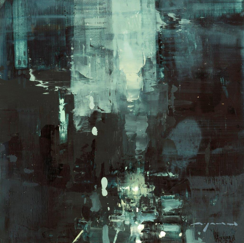 Cityscape - Composed Form Study 24 - 6 x 6 inches - Oil on Panel - Nov-16