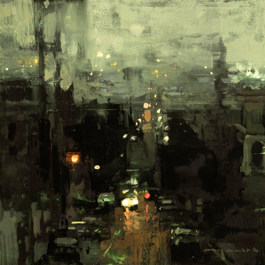 Cityscape - Composed Form Study 25 - 6 x 6 inches - Oil on Panel - Nov-16
