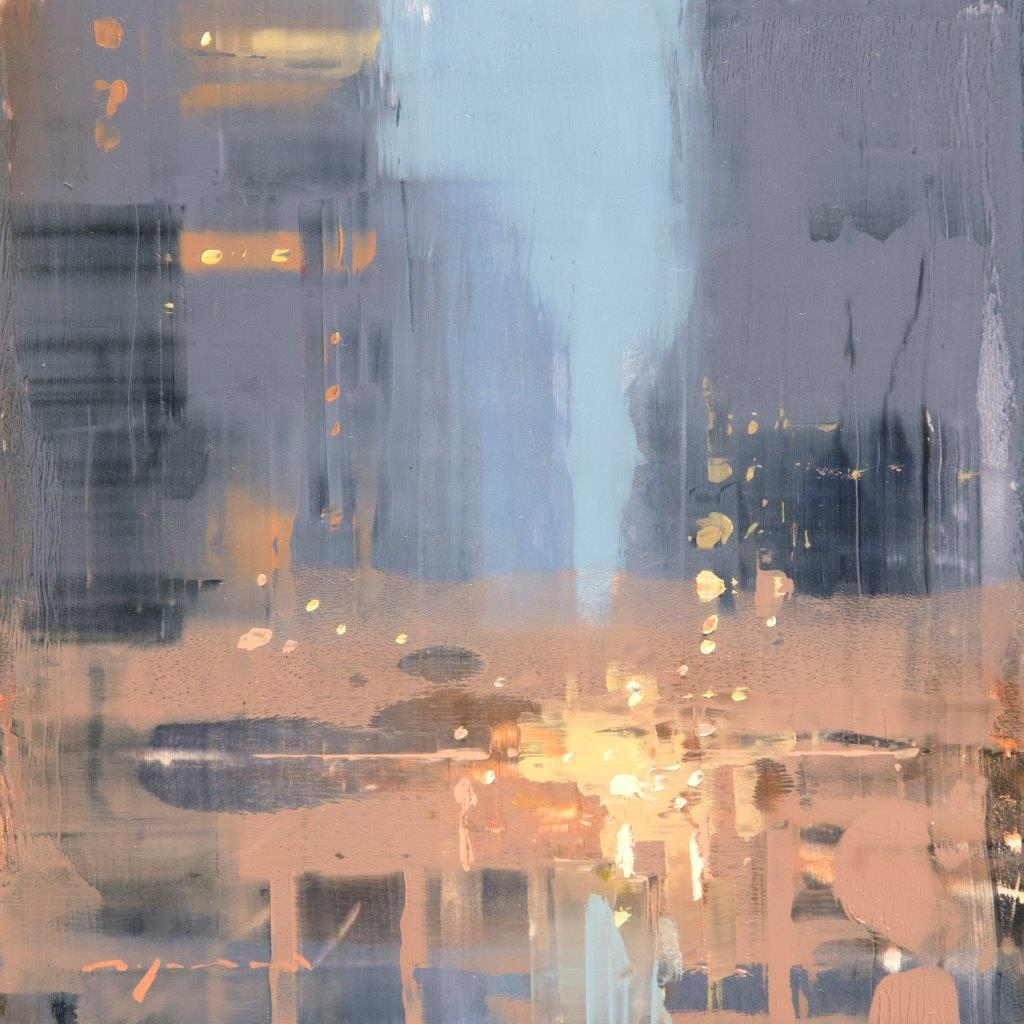 Cityscape - Composed Form Study 34 - 6 x 6 inches - Oil on Panel - Apr-17