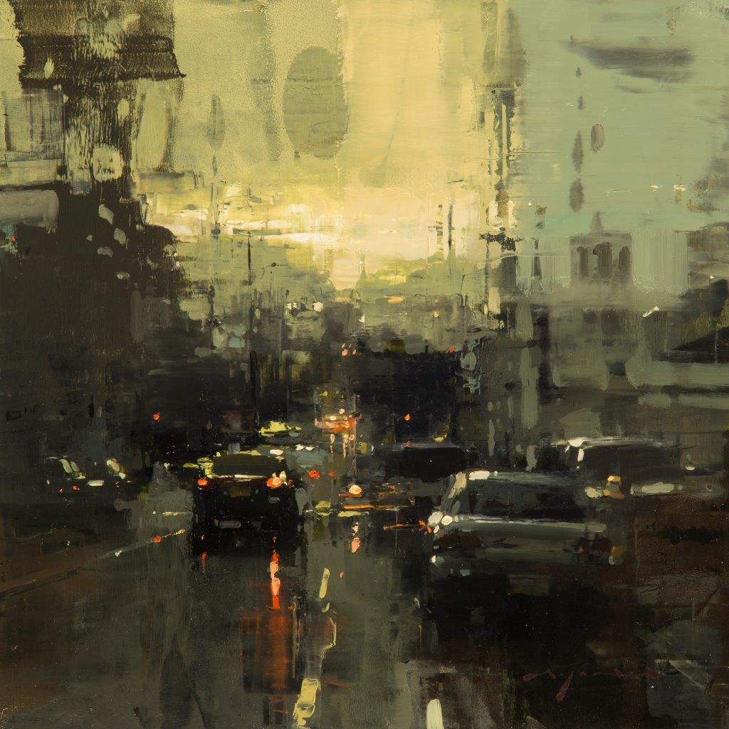 Evening in the Mission - 12 x 12 inches - Oil on Panel - Feb-17