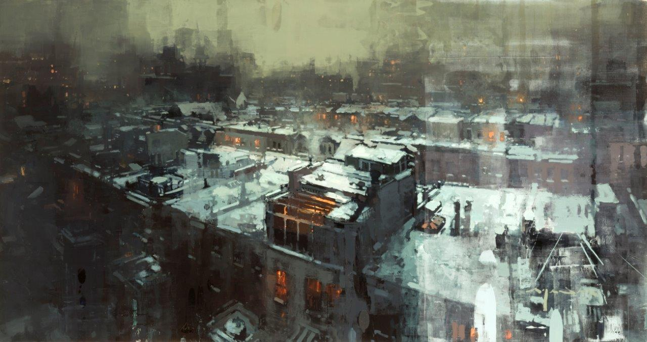 Nights in New York Winters - 26 x 49 inches - Oil on Panel - May-17
