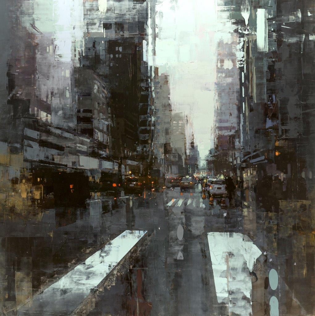NYC 32 - 48 x 48 inches - Oil on Panel - Oct-16