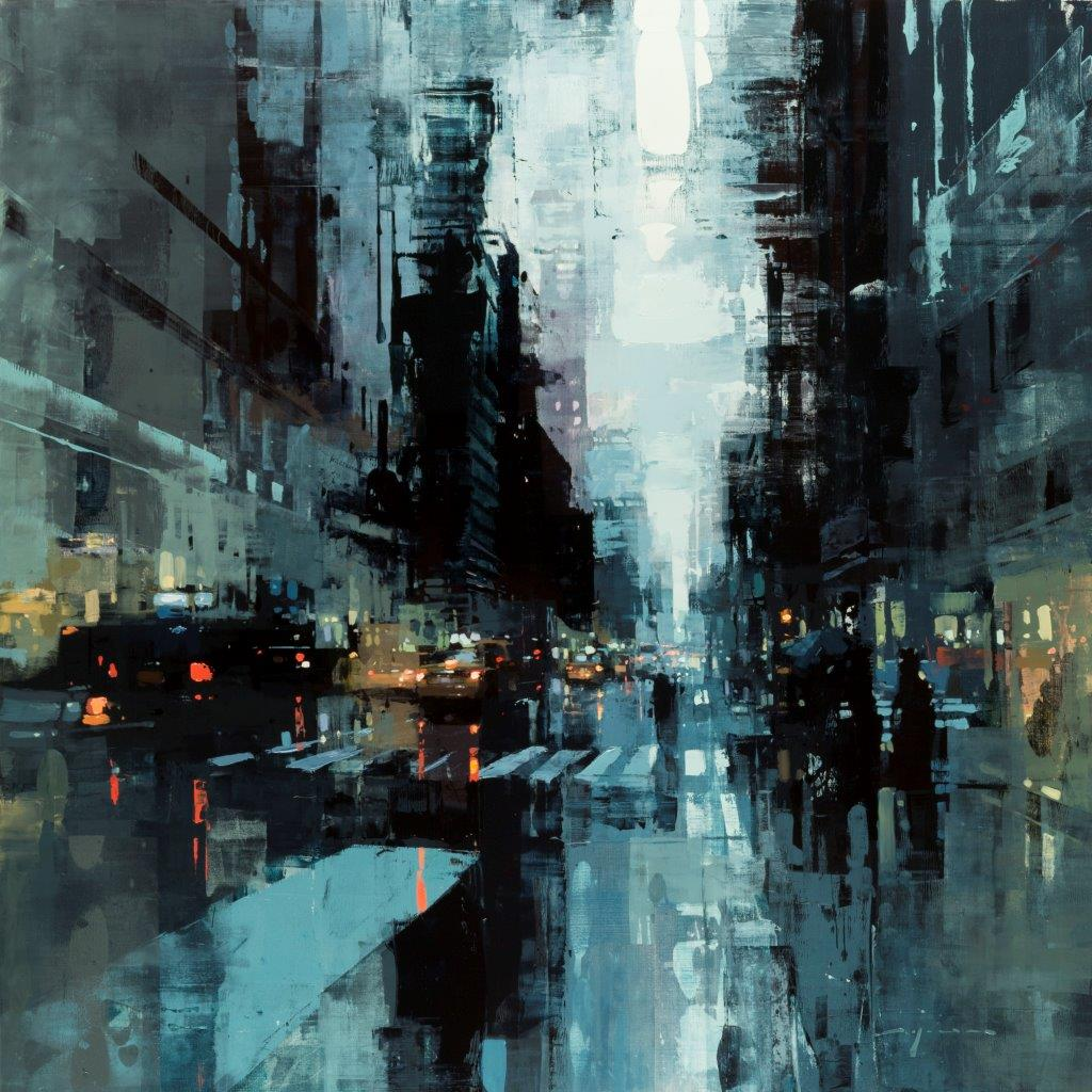NYC 33 - 36 x 36 inches - Oil on Panel - Oct-16