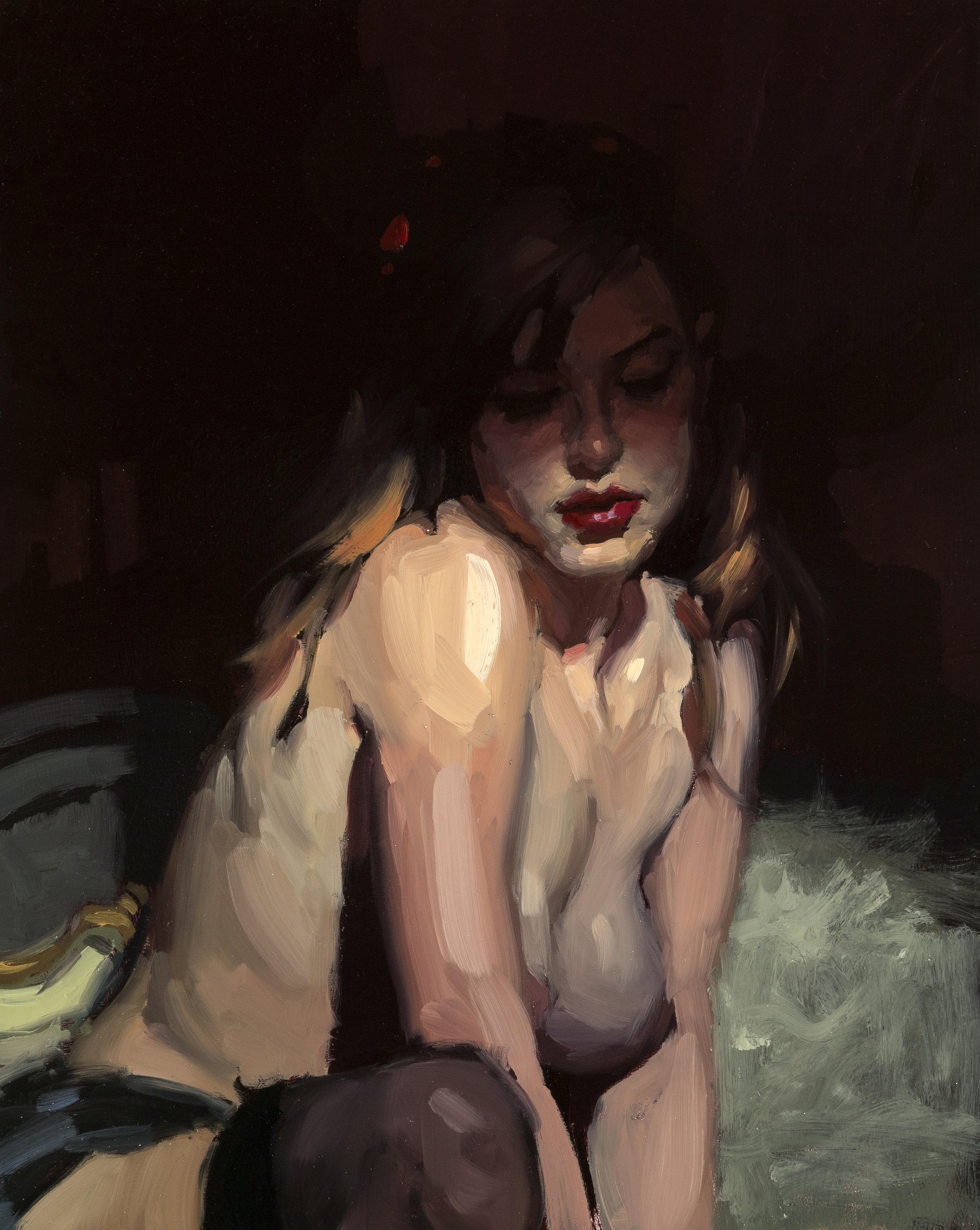 Tonal Study, Amanda - 8 x 10 inches - Oil on Panel - Jun-15