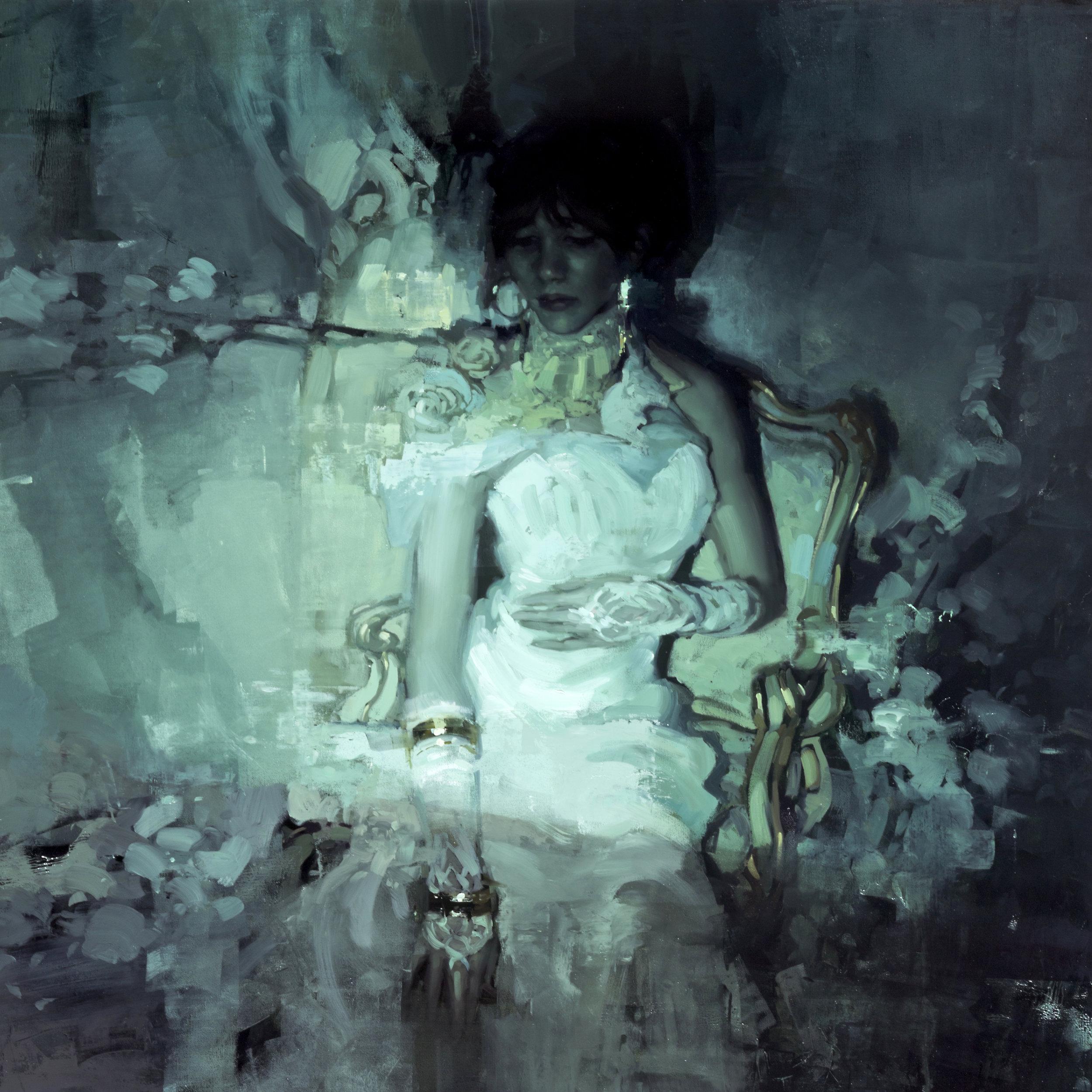 La Bella Signora senza Pietà - 30 x 30 inches - Oil on Panel - Jun-15