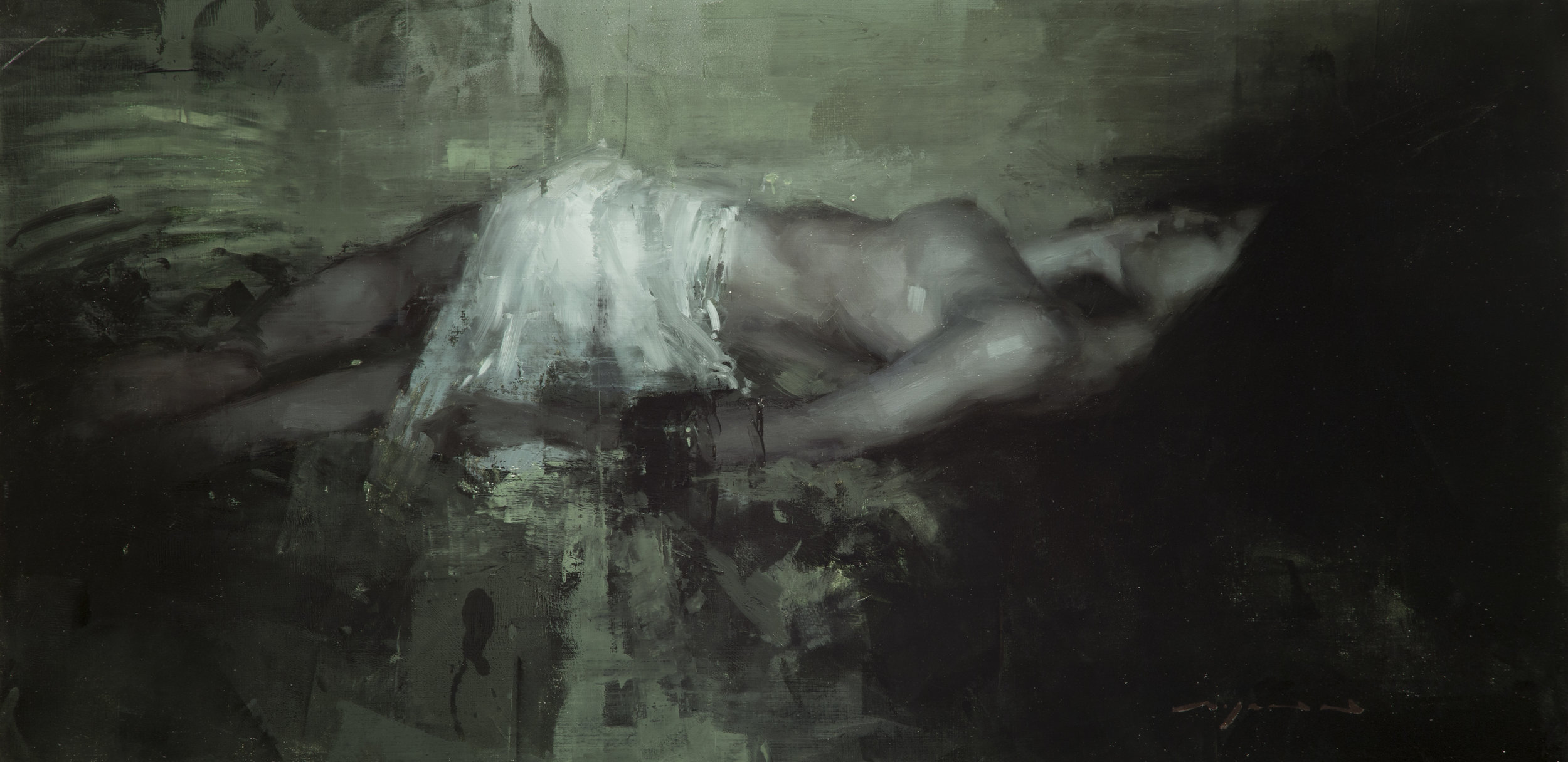 The Sleepless Dream - 12 x 24 inches - Oil on Panel - Mar-17
