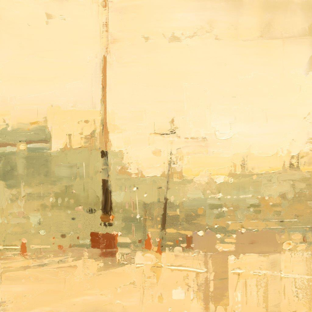 Cityscape - Composed Form Study 39 - 6 x 6 in. - Oil on Panel - Aug/2018