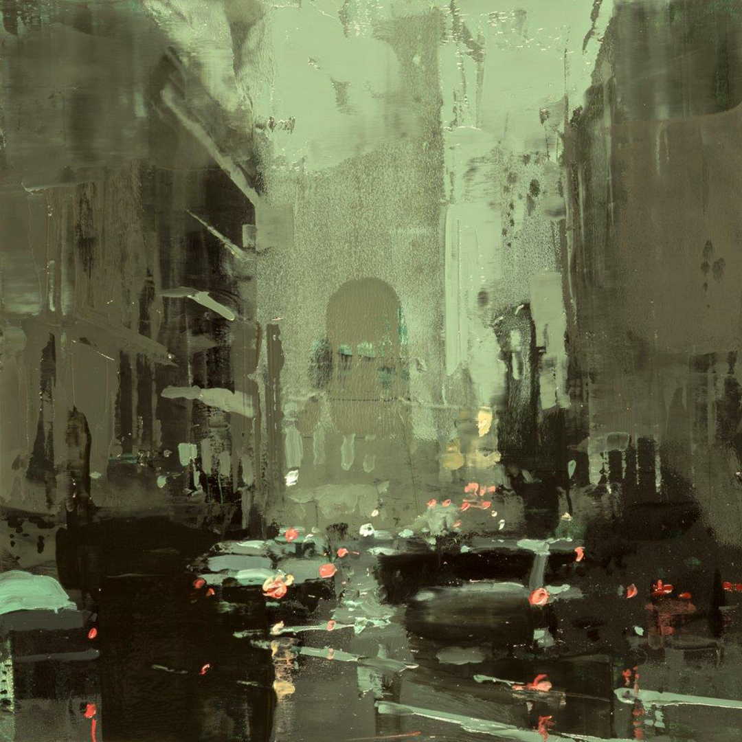 Cityscape - Composed Form Study 40 - 6 x 6 in. - Oil on Panel - Aug/2018