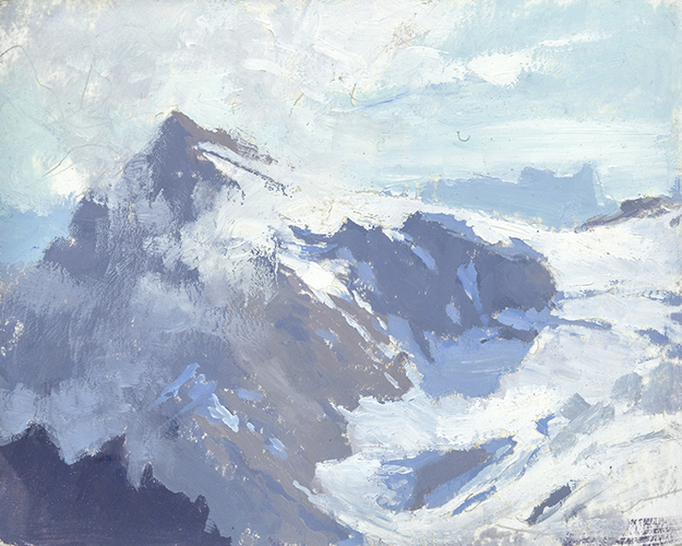 """On the Titlis #2, Switzerland (Plein Air)"" - 4 x 5 in. - Oil on Panel"