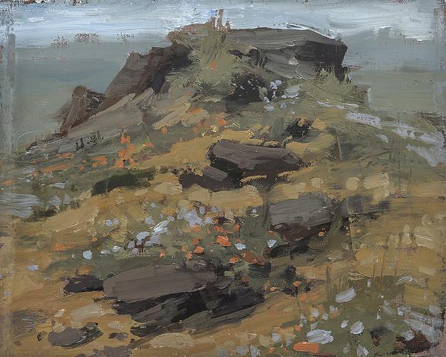 """The Rocks of Joshua Tree, California (Plein Air)"" - 4 x 5 in. - Oil on Panel"